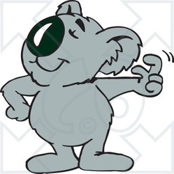 Clipart Illustration of a Koala Snapping His Fingers ~ CartoonsOf.com.