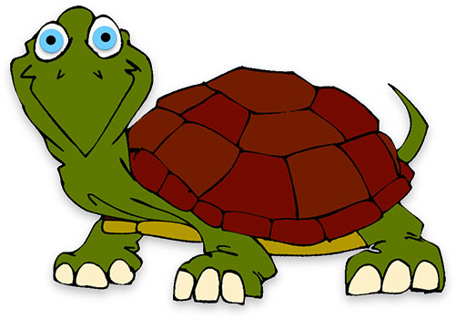 Snapping turtle clipart.