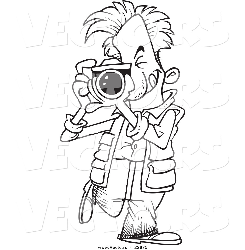 Cartoon photographer clip art.