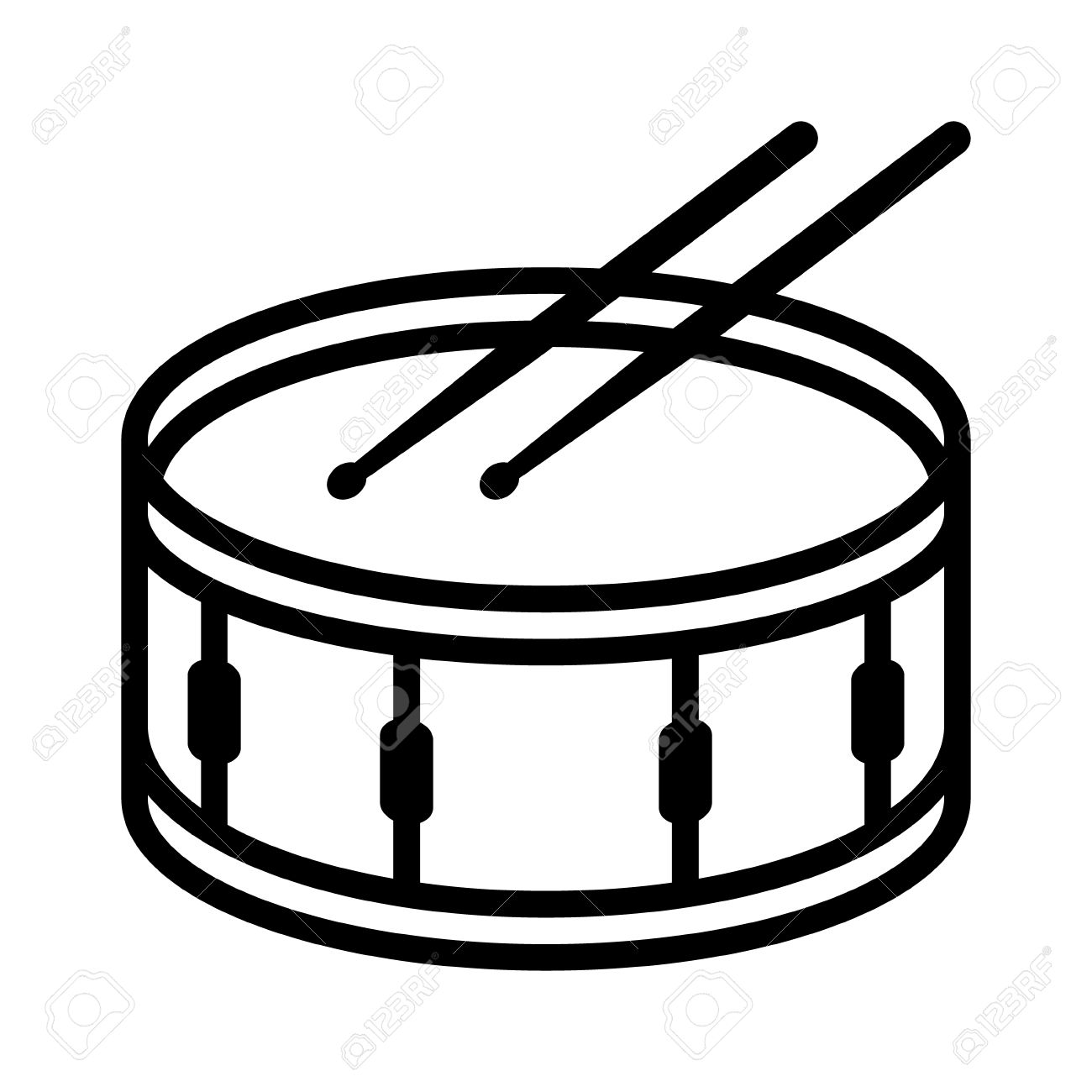 191 Snare Drum free clipart.