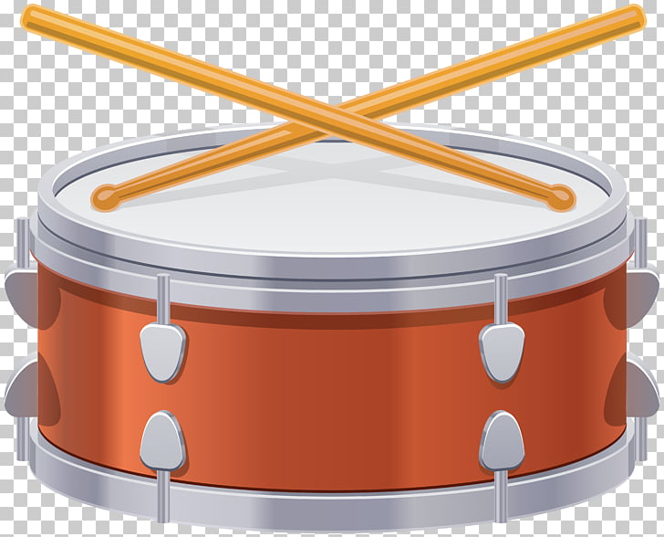 Drum , Drum Transparent , red and gray snare drum and sticks.