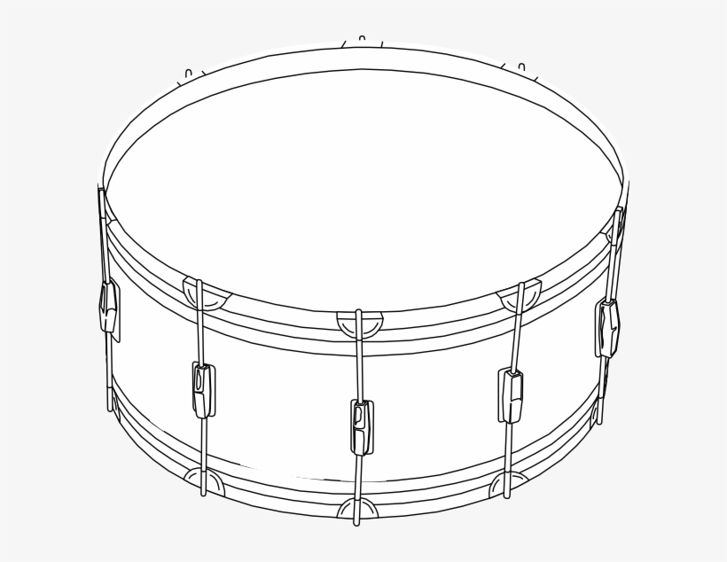 Png Black And White Snare Drum Clipart Black And White.