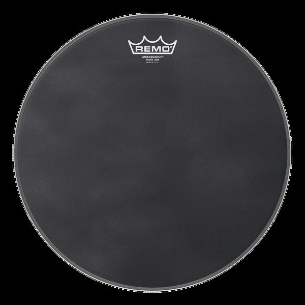 Ambassador® Black Suede™ Snare Side.
