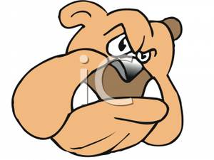 Snarling Dog Clipart.