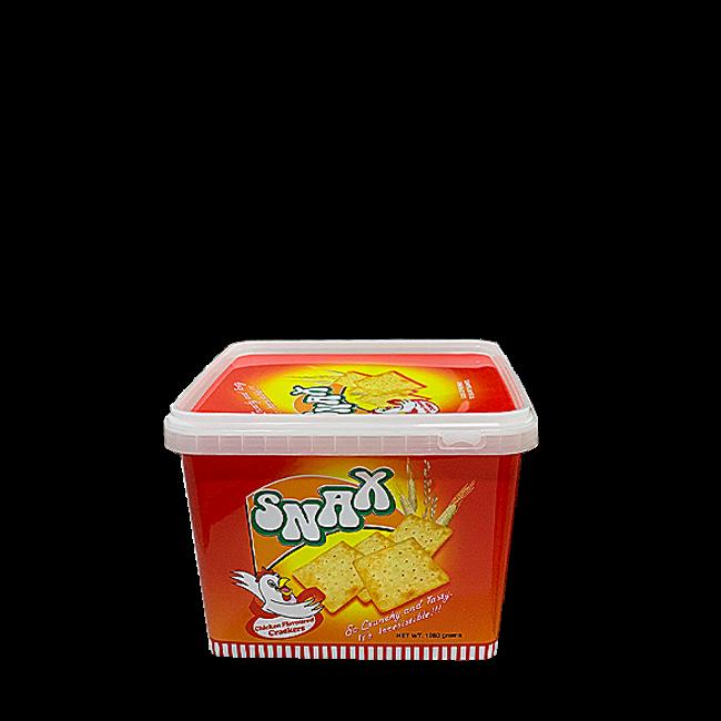 Snax Chicken Flavoured Crackers.