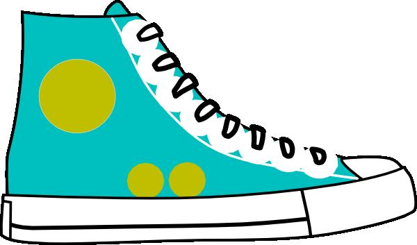 Tennis shoe clipart #11
