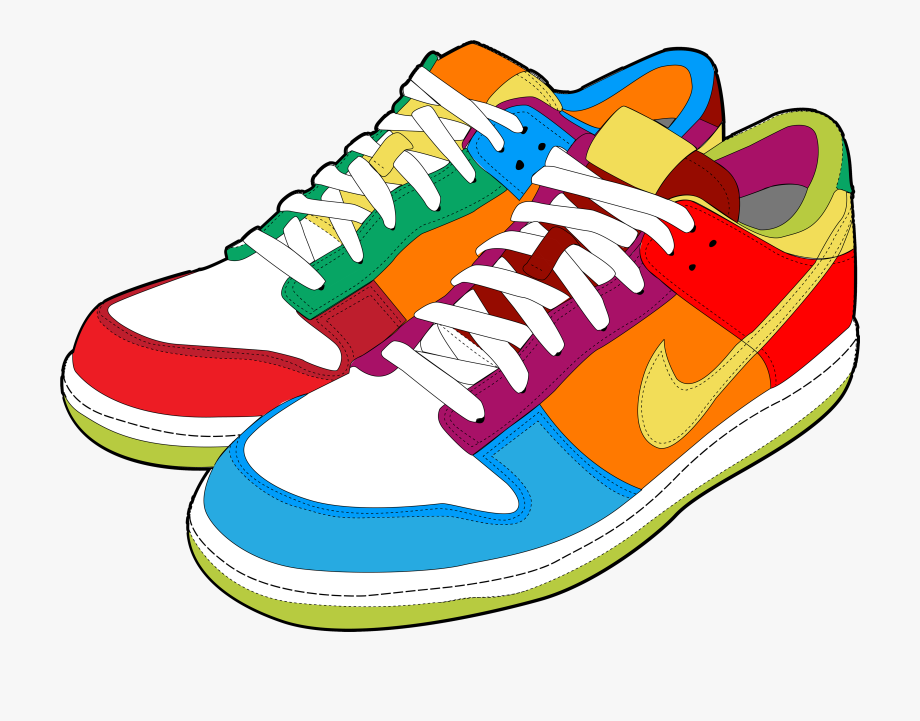 Colorful Sneakers Png Clipart.