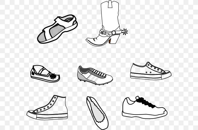 Shoe Sneakers Clip Art, PNG, 600x539px, Shoe, Area, Black.