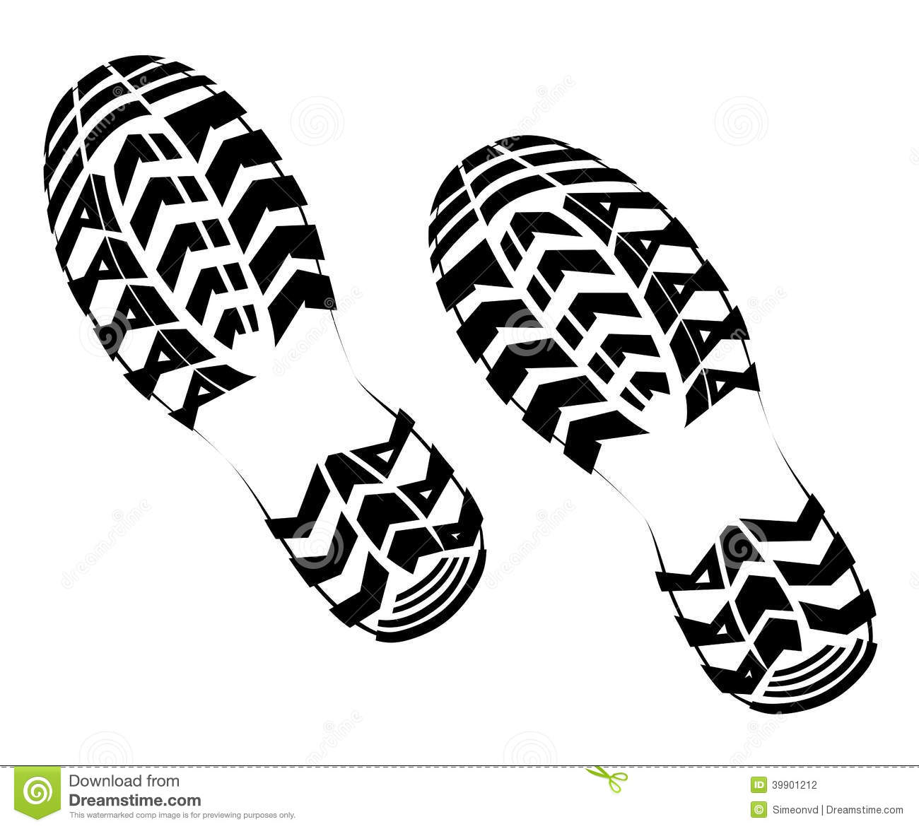 14 Tennis Shoe Print Vector Images.