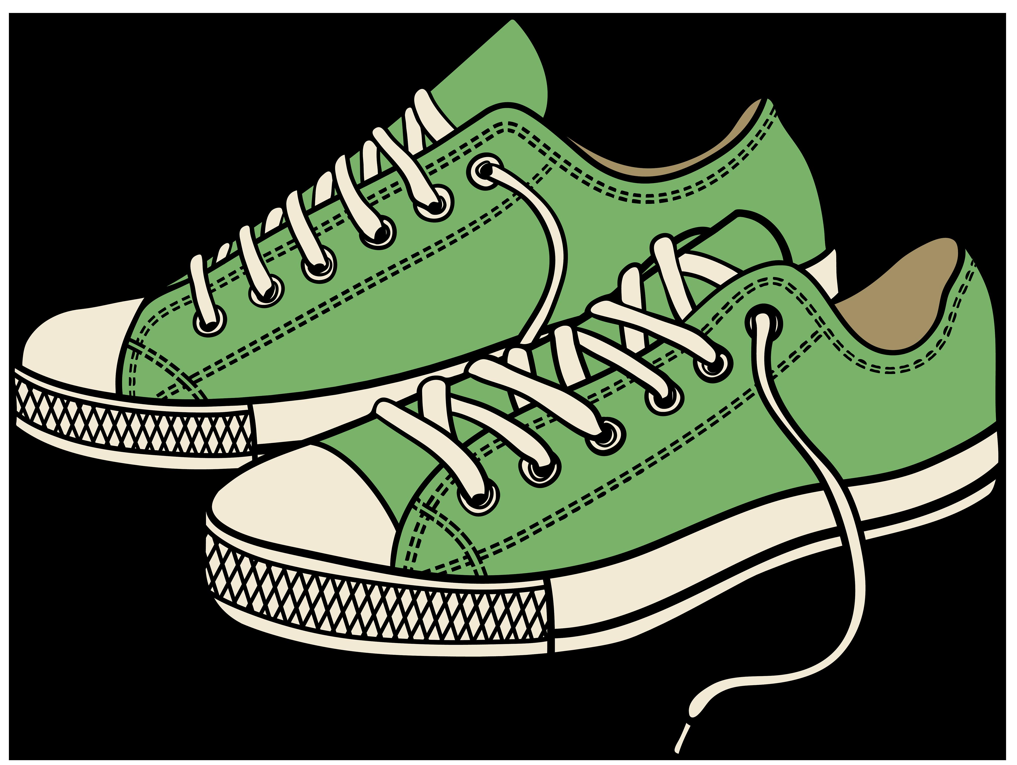 Sneakers Clip Art.