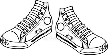 Sneaker tennis shoes clipart black and white free 3 2.