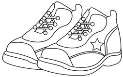 Kids Shoes Clipart Black And White.
