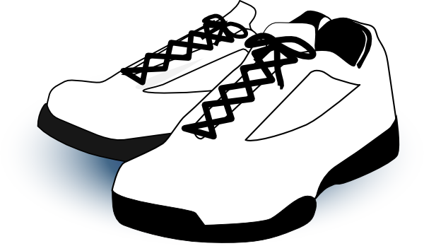 Clipart Shoes Black And White.