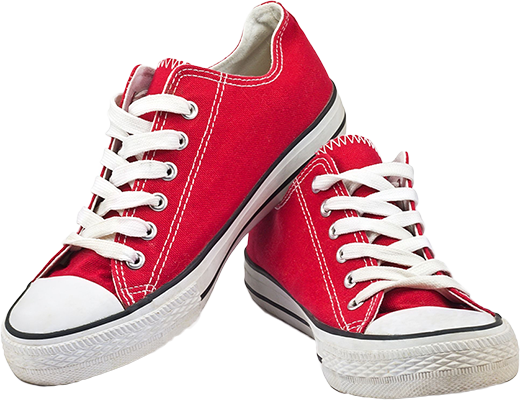 Red Sneakers PNG Image.