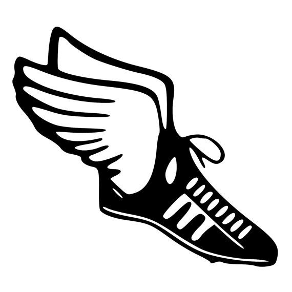 Track & Field Runner Shoe with wings by BeeMountainGraphics.