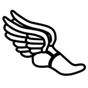 Running Shoes With Wings Clipart.