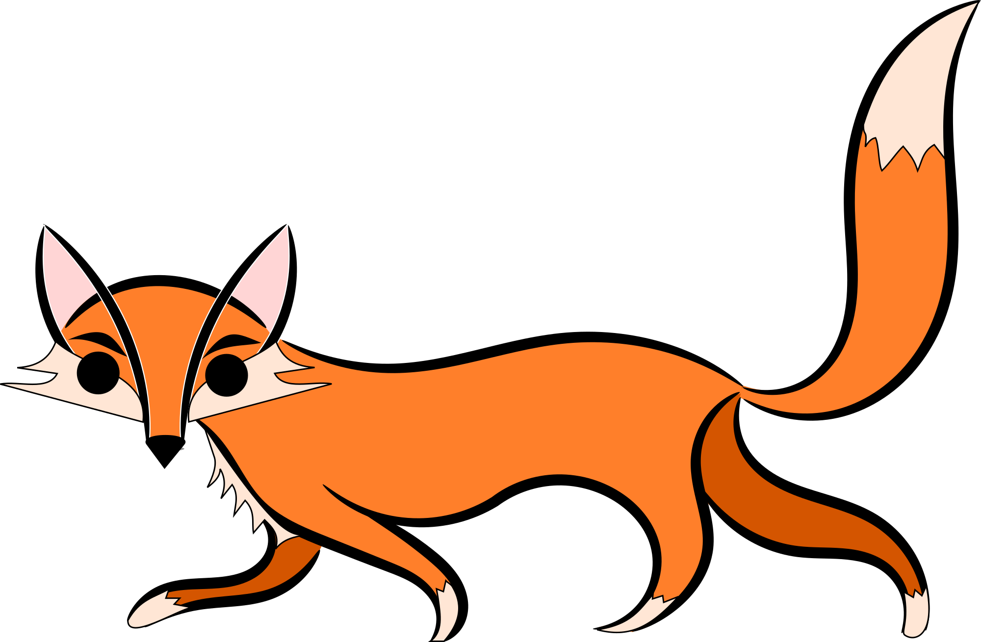 Sneaky Fox Clipart.