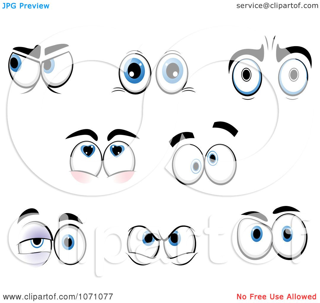 Clipart Sets Of Emotional Eyes 2.