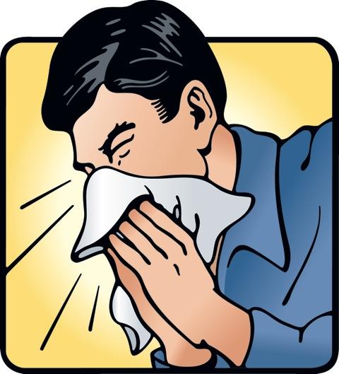 Sneezing Clipart.