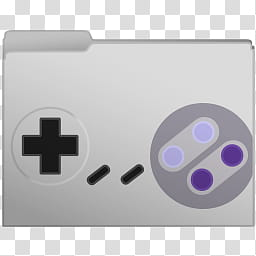 Nintendo Controllers Set Computer Folder Icons, SNES.