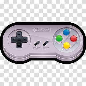 D Cartoon Icons III, Nintendo SNES, gray Nintendo controller.