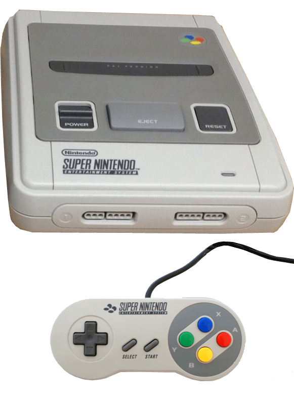 Super Nintendo Games console png.