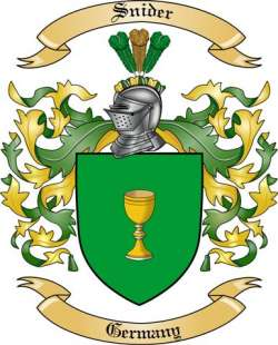 Snider Family Crest from Germany2 by The Tree Maker.