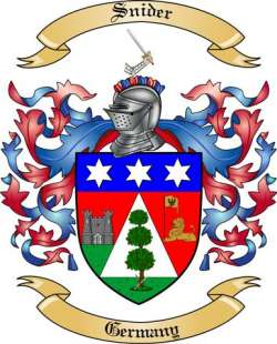 Snider Family Crest from Germany3 by The Tree Maker.