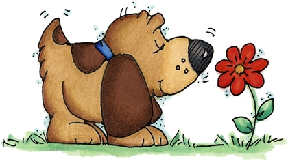 Dog Greeting Sniff Clipart.