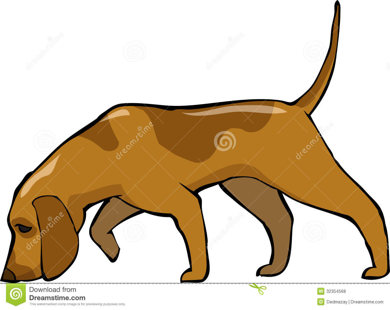Sniffing Dog Stock Illustrations.