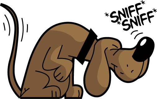 Nose sniffing clipart.