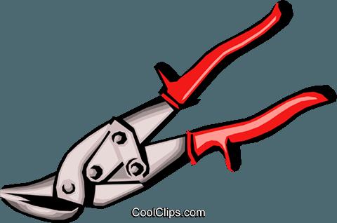 Tin snips Royalty Free Vector Clip Art illustration.