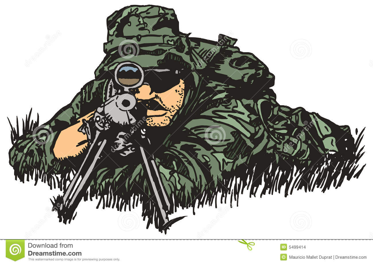Sniper Army. Stock Images.
