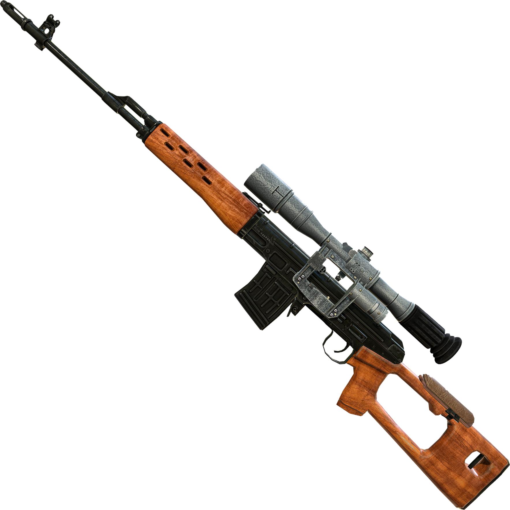 Wooden Sniper PNG Image.