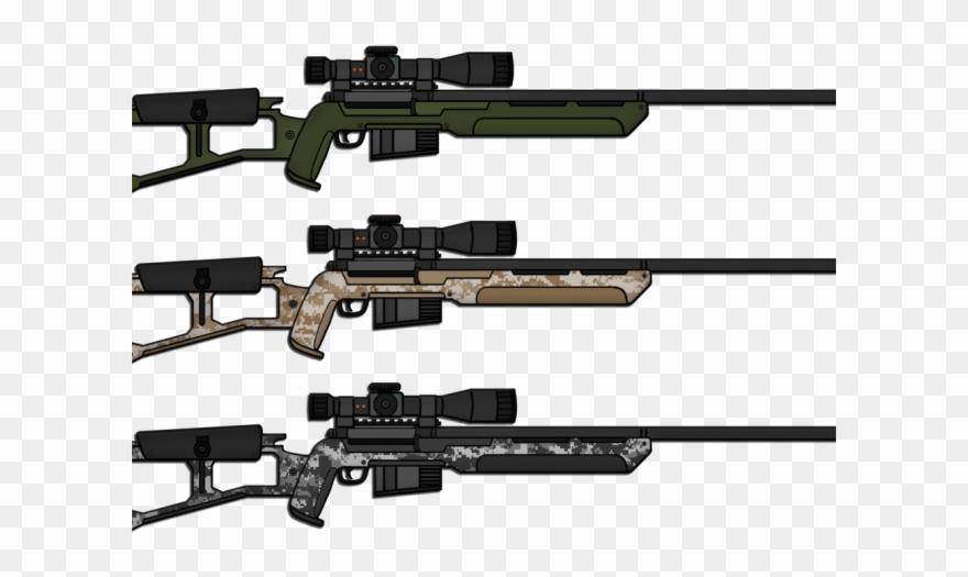 Drawn Shotgun Sniper Rifle.