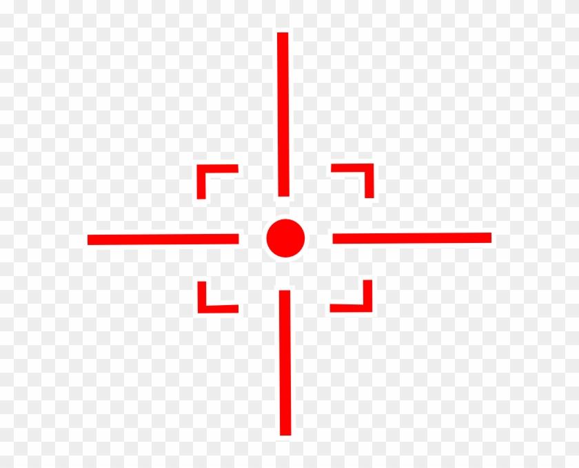 Red Sniper Target Png, Transparent Png.