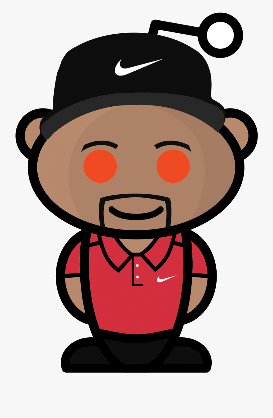 I Made A Tiger Woods Reddit Snoo.