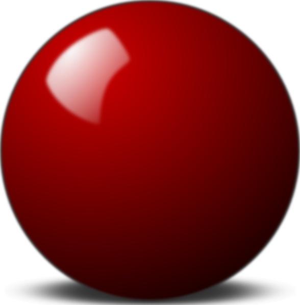 Stellaris Red Snooker Ball clip art Free vector in Open.