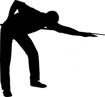 Pool Players Clipart.