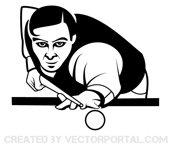 Snooker Player Vector Image.