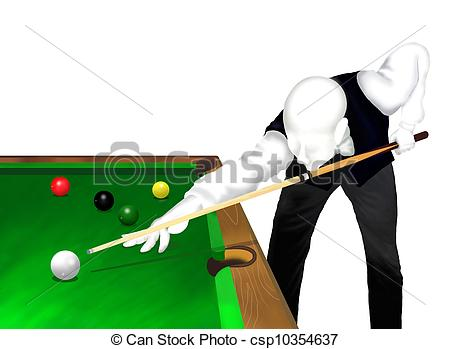 Drawings of Snooker Player.