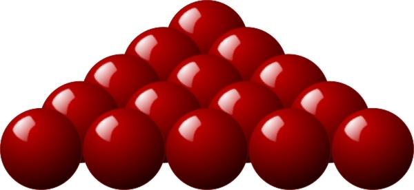 Snooker balls clipart.