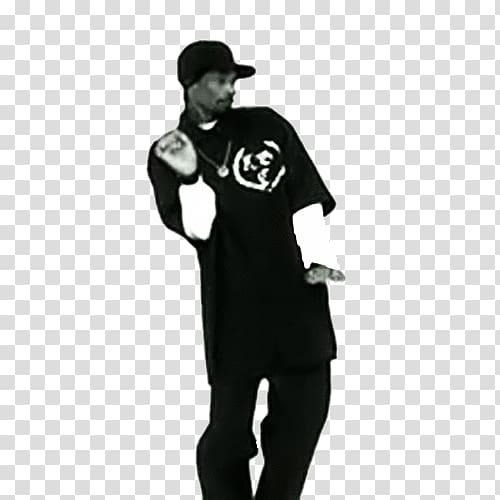 Man wearing black t.