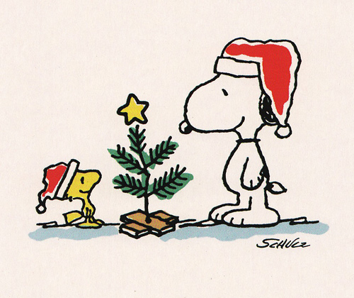 Snoopy And Woodstock Christmas Clipart.