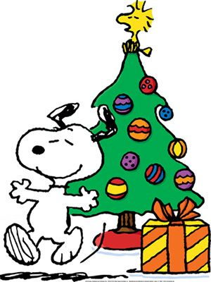 Snoopy and Woodstock Christmas Tree.