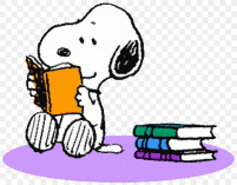 Snoopy Peanuts Reading Woodstock Book, PNG, 1000x781px.