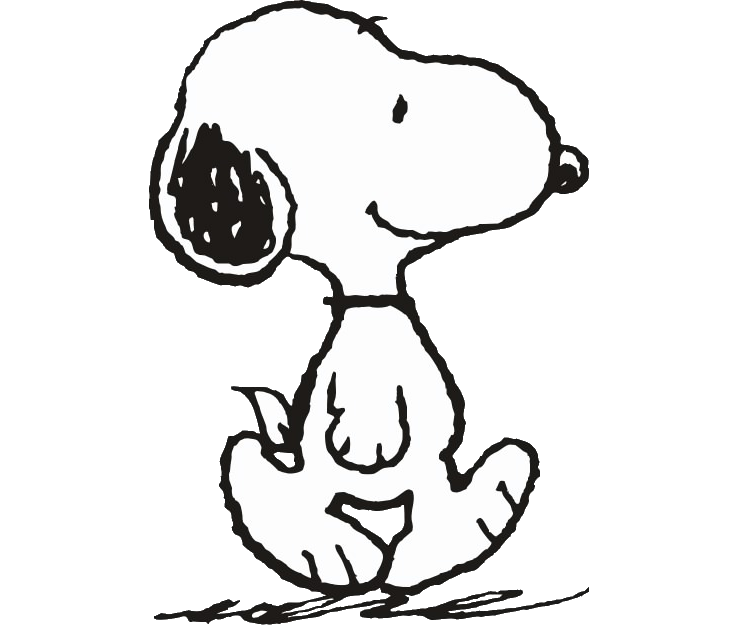 Free Snoopy Clipart Black And White, Download Free Clip Art.