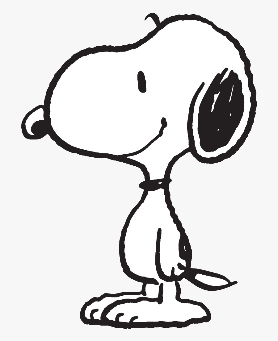 Black And White Snoopy Outline , Free Transparent Clipart.