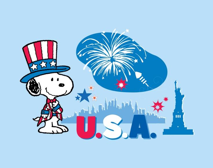 48+] Snoopy 4th of July Wallpaper on WallpaperSafari.