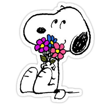 Snoopy Springtime\' Sticker by jinmandor.